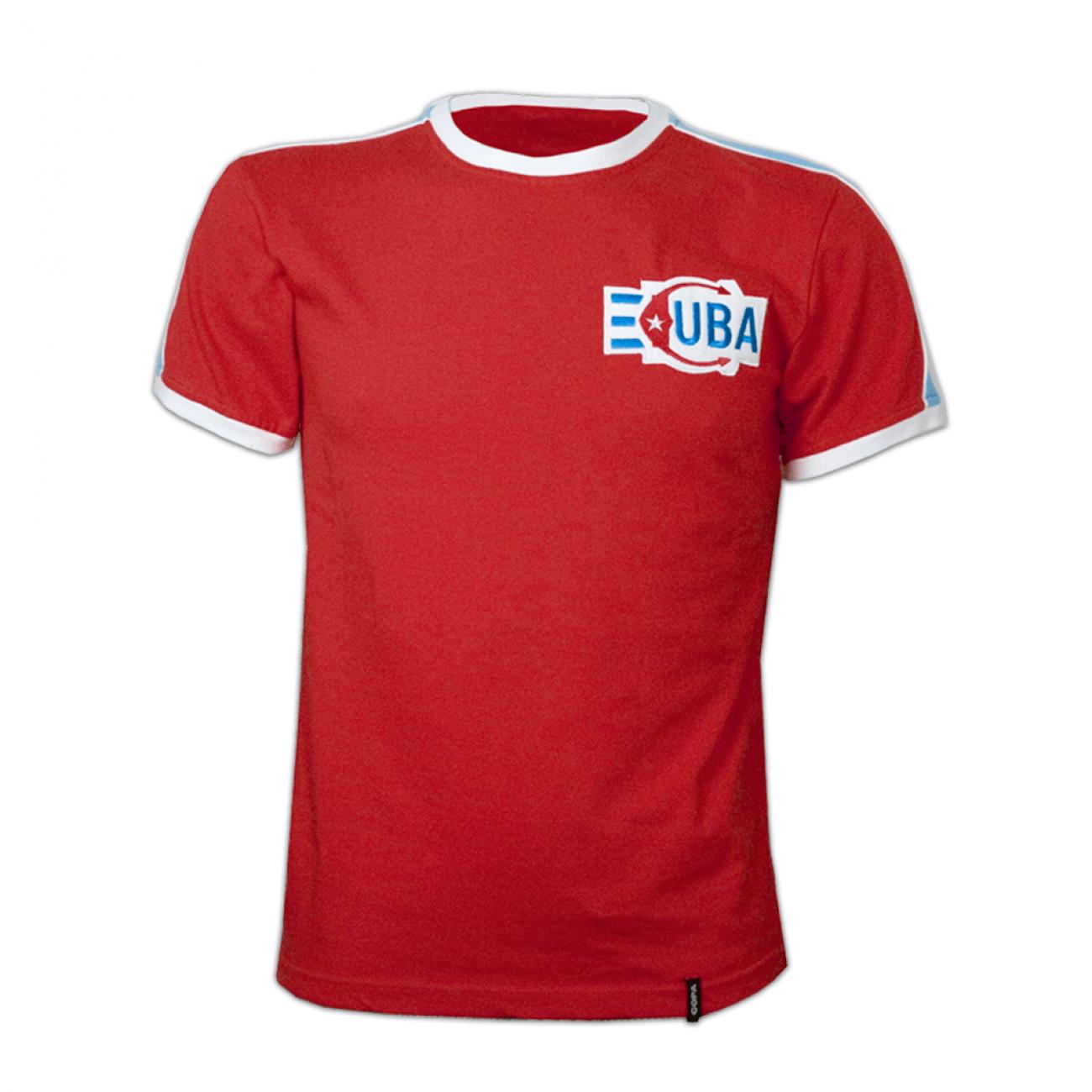 549b555fb75 Camiseta retro Cuba años 80. Fidel Castro | Retrofootball®