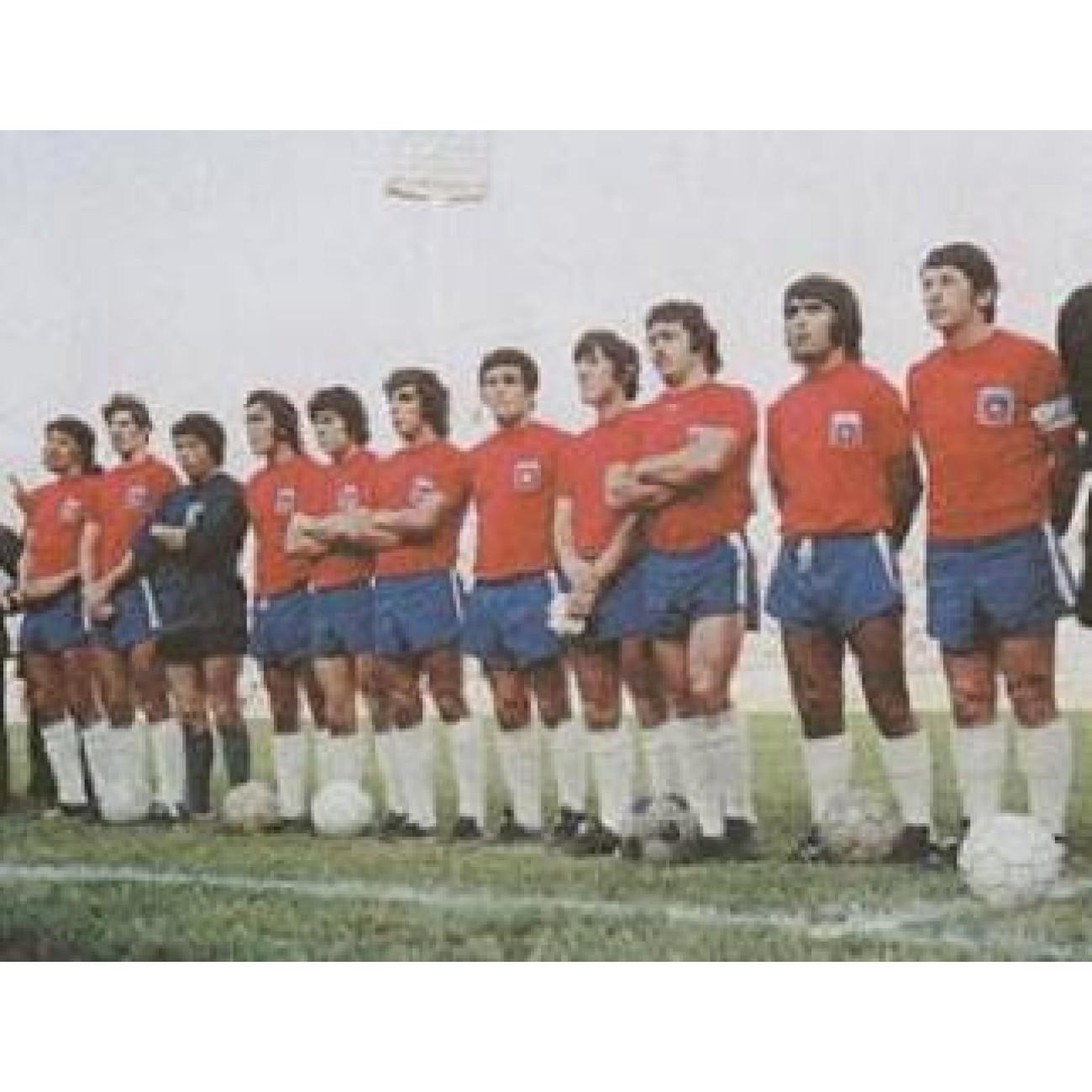Camiseta clásica de Chile Mundial 1974  a1fffd1a2f44a