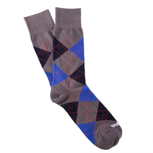 Argyle Football Pitch | Grey-Blue-Navy Blue-Red