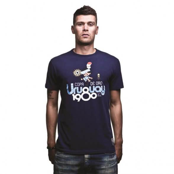 Uruguay 1980 Vintage T-Shirt | Marine Blue