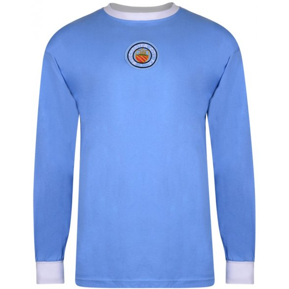 Camiseta Manchester City 1970 - Manga Larga
