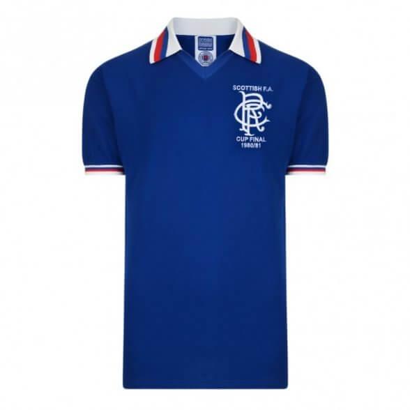 Camiseta Glasgow Rangers 1980/81