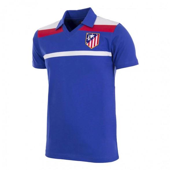 Camiseta Retro Atletico Madrid 1985-86 Azul Recopa