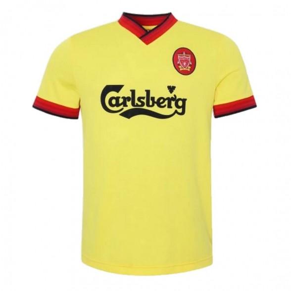 Camiseta segunda equipación Retro Liverpool FC 1997-98 Amarilla