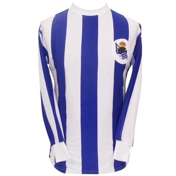 ef6bcea9c5564 Camiseta retro antigua Real Sociedad años 60 y 70