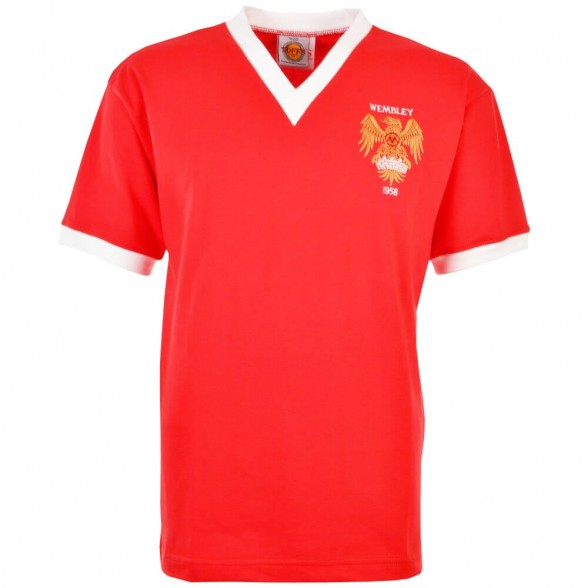 Camiseta Retro Manchester United 1958 FA Cup Final