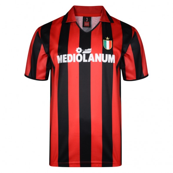 Camiseta Retro AC Milan Mediolanum Gullit Van Basten