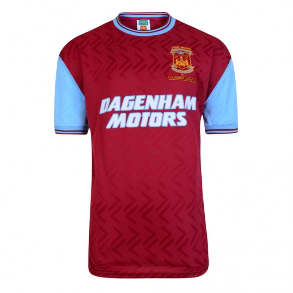 Camiseta Retro del West Ham 1994. Bobby Moore Memorial Match 7/03/1994.