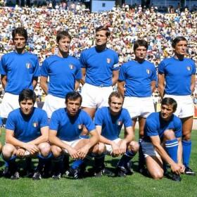 camiseta antigua Italia. La Selección Italiana del 1970