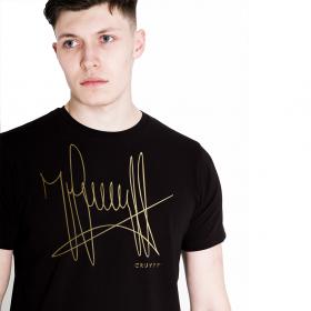 Camiseta Cruyff firma Negro/Oro