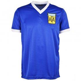 Segunda Equipación Argentina Azul Maradona 1986