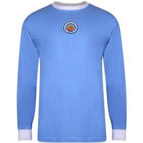 Camiseta Manchester City 1970 - Manga Larga