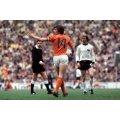 Cruyff con el número 14, final del Mundial 74