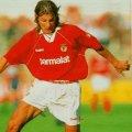 Caniggia con la camiseta del SL Benfica 1994-95