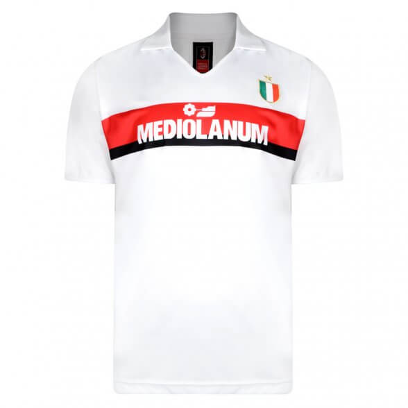 Camiseta retro Milan blanca Van Basten Gullit campeones 1989