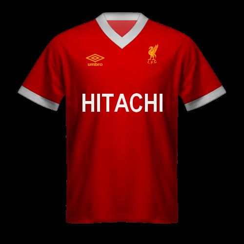 Camiseta Liverpool 1978 Hitachi