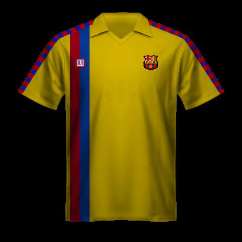 Camiseta FC Barcelona 1981/82 visitante amarilla