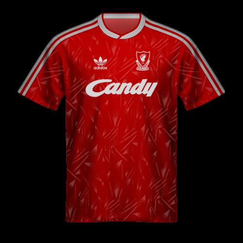 Camiseta Liverpool 1989/90