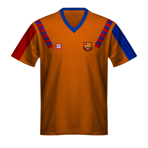 Camiseta FC Barcelona 1992 Naranja Final Copa de Campeones
