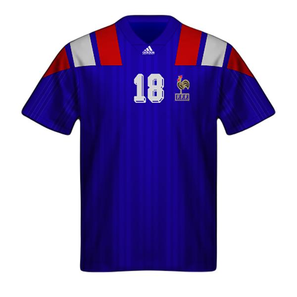 Camiseta Francia 1992