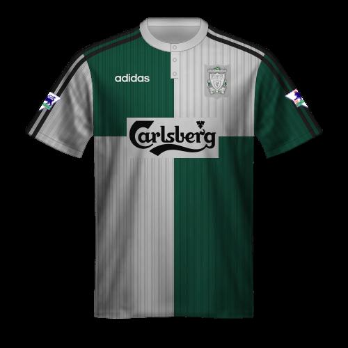Camiseta Liverpool 1995/96 segunda equipación