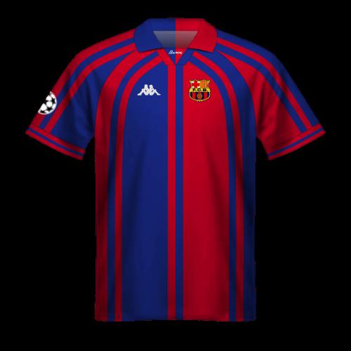 Camiseta FC Barcelona 1997/98 en Champions League