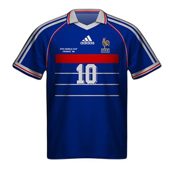 Camiseta Francia 1998