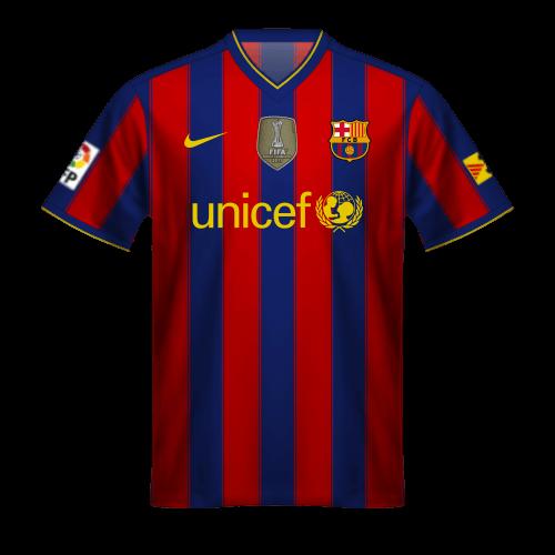 Camiseta FC Barcelona 2009/10, Campeon Mundial por Clubes