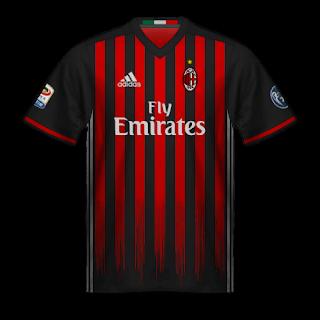 Camiseta Milan 2016/17