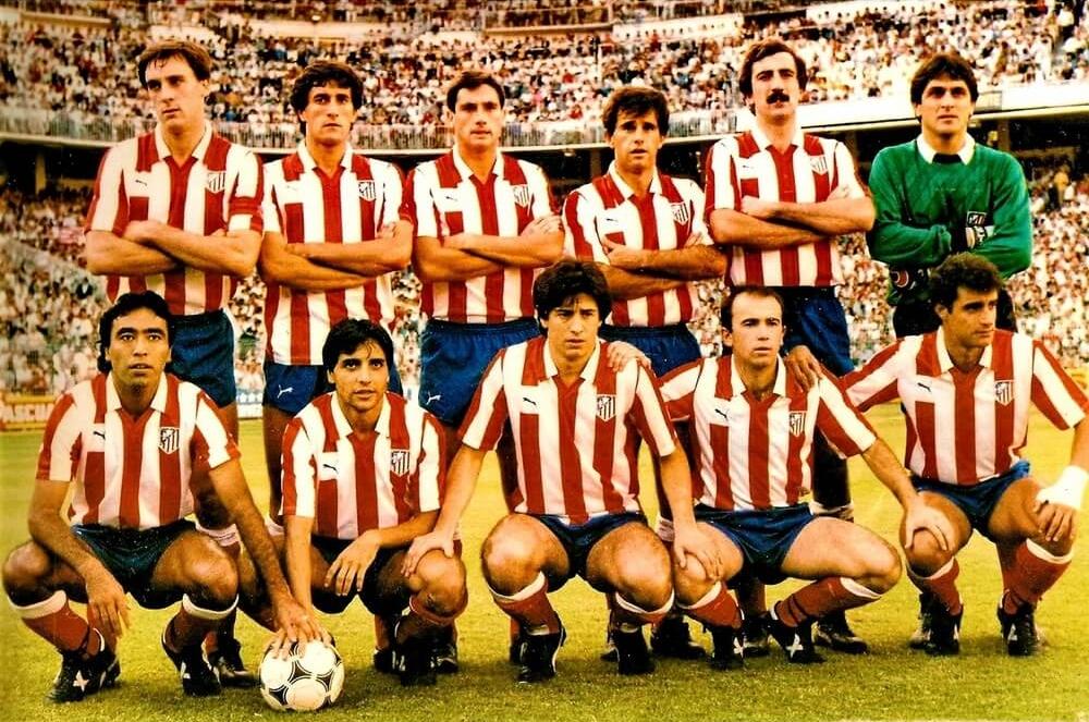 Equipo del Atlético de Madrid en los años 80