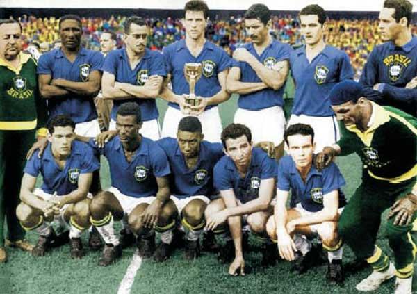 Brasil Campeon Mundial 1958 Copa del Mundo Suecia