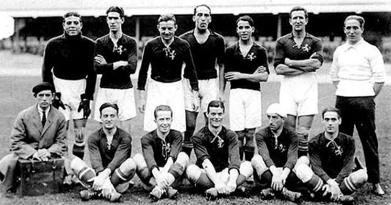Selección Española fútbol Amberes 1920