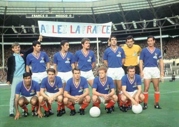 Selección de Francia con la camiseta de 1966
