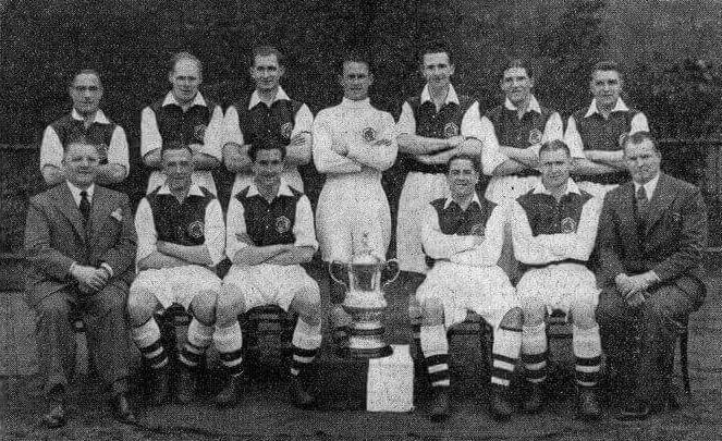 Arsenal fc 1935 1936 equipo con la FA Cup
