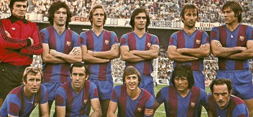 Barcelona FC años 70 equipo con Cruyff