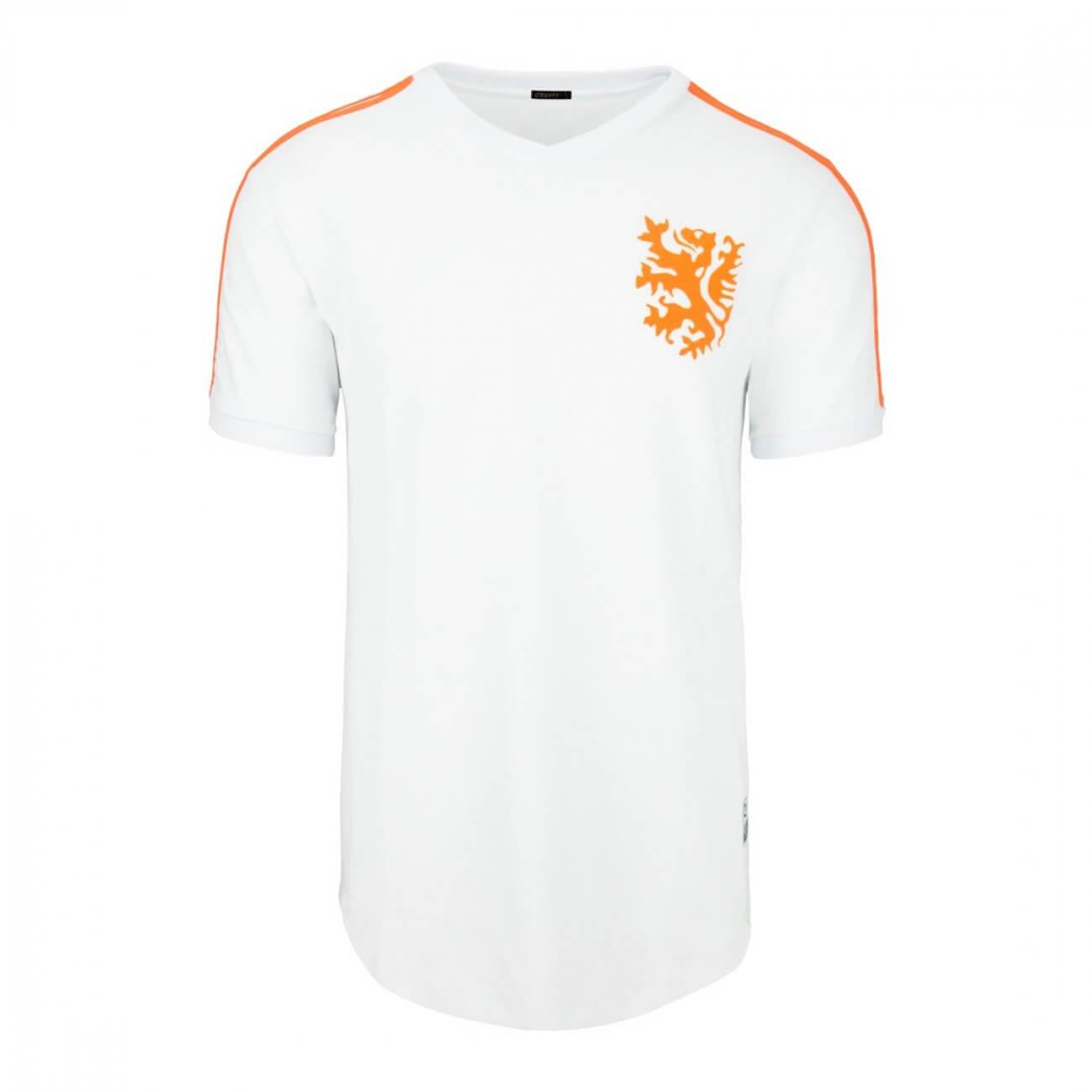 Camiseta Holanda 1974 Blanca