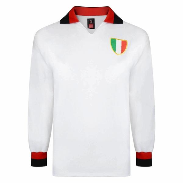 Camiseta AC Milan años 60 visitante