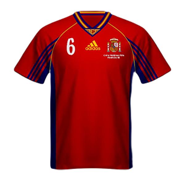 Camiseta España Mundial Francia 1998