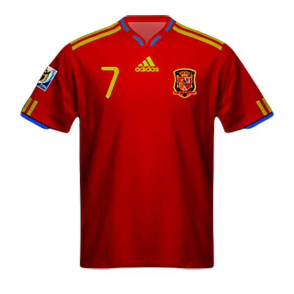 Camiseta España Mundial Sudáfrica 2010
