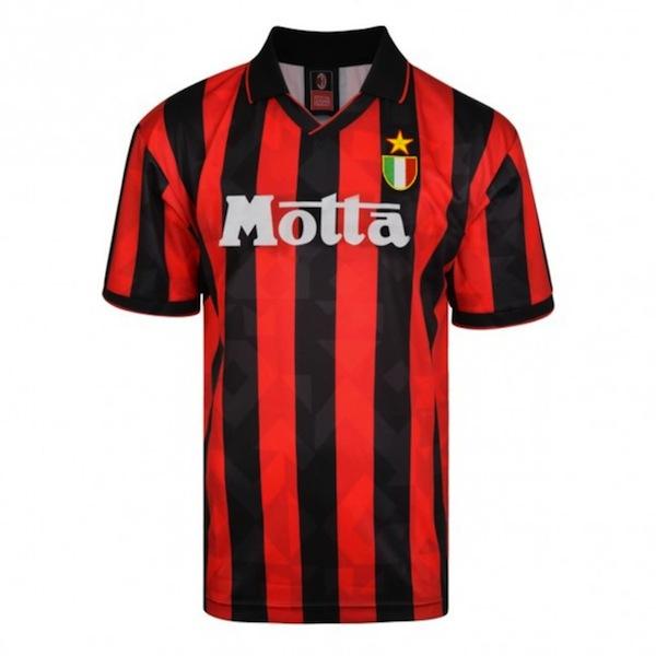 camiseta ac milan 1994 retrofootball