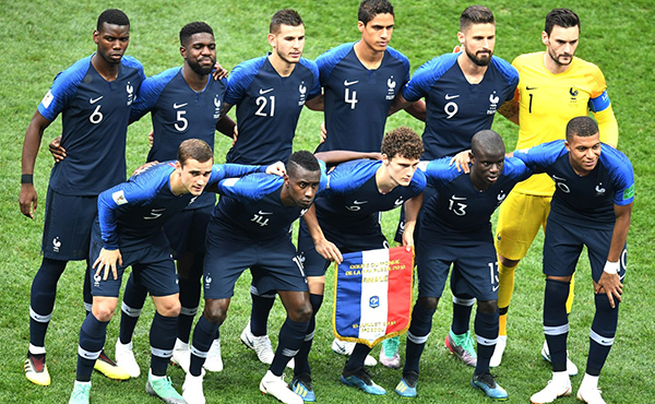 Historia de la camiseta de Francia