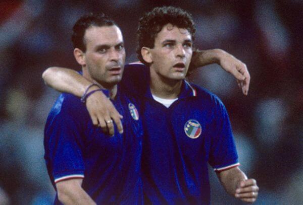 Schillaci e Baggio en el Mundial de Italia 90