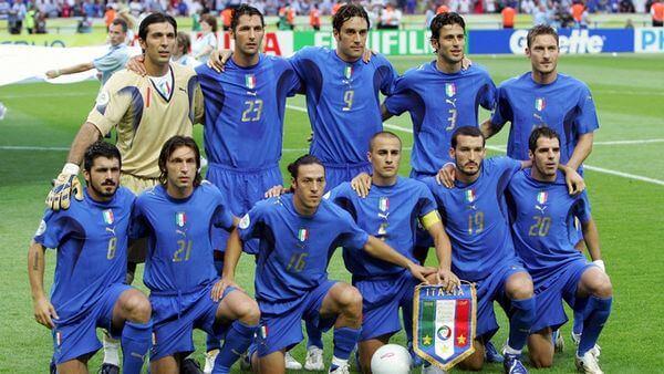 La selección italiana campeon del mundo 2006