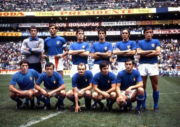 La selección de Italia en 1970
