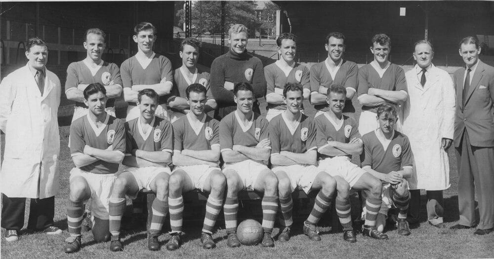 Equipo del Liverpool en 1955, años 50