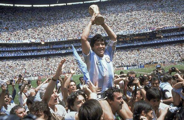 Diego Maradona, campeón del mundo en México 86