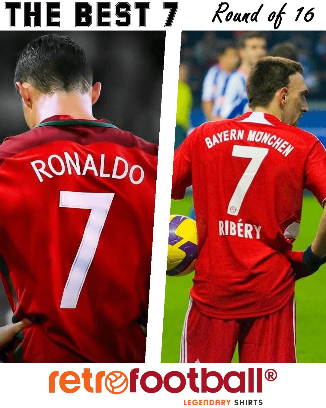 El mejor 7 de la historia del futbol : CR7 vs Ribery