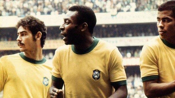 Pelé en el Mundial de 1970 en Mexico