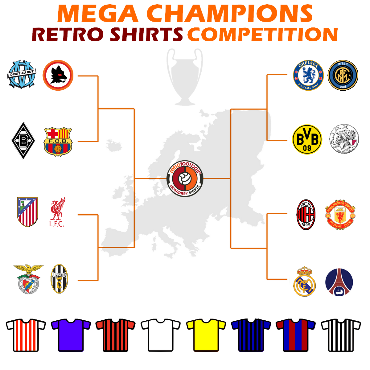 Torneo Mega Champions Retro Shirts Competition